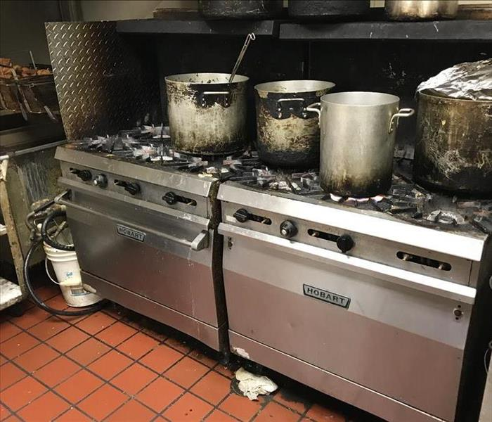 photo of a commercial stove